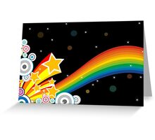 Rainbow In Space Greeting Card
