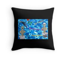 Roman Bust - Seapunk Aesthetic Throw Pillow