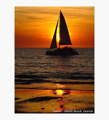Mindil Beach sunset sail Photographic Print