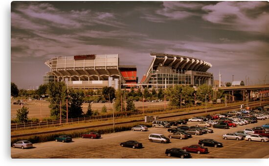 Cleveland Browns Stadium by Jeff  Burns