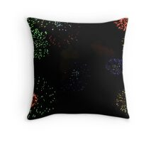 colourful explosions Throw Pillow