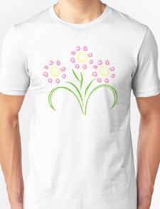 Pink and Yellow Flowers T-Shirt