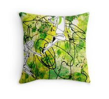 Forest Dancers Throw Pillow