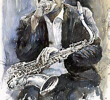 Jazz Saxophonist John Coltrane  by Yuriy Shevchuk