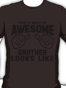 This is What an Awesome Brother Looks Like Retro T-Shirt