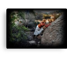 Hiding from the sheriff Canvas Print