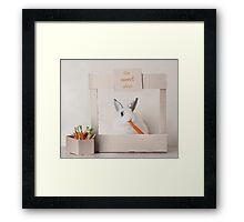 The Carrot Shop Framed Print