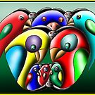 Parrots by David Fraser
