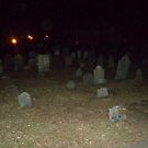 Large Orb in Old Cemetery Salem MA by Rebecca Bryson