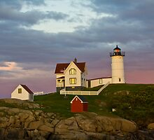 Nubble Light at Sunset by Deborah Austin