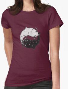 Yin & Yang Koi Womens Fitted T-Shirt