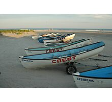 Lifeguard boats in Wildwood Crest Photographic Print