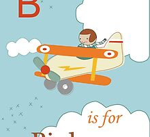 B is for Biplane by KathrinLegg