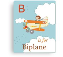 B is for Biplane Canvas Print