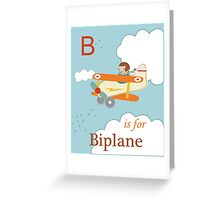 B is for Biplane Greeting Card