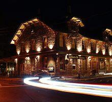 Lambertville Station at Night by Michael Bender