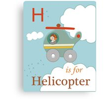 H is for Helicopter Canvas Print