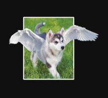 Cute Angel puppy t-shirt by Mariann Rea