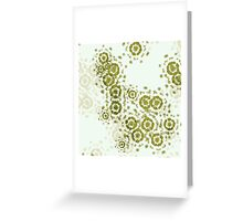 Abstract Flowers Greeting Card