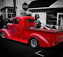 red chevy pu by Brandon Taylor