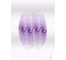 Purple Ovoid Two Poster