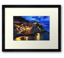 Manarola at Night Framed Print
