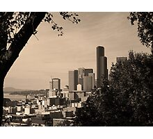 Seattle In Sepia Photographic Print