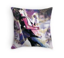 "Carlos Santana ""barchaProcess"" Throw Pillow"