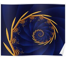 Spiral:  Amber Waves of Grain Poster