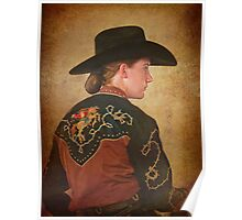 Young Cowgirl Poster