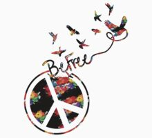 Peace and be free Kids Clothes