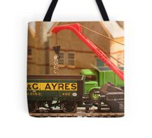 Stock yard - loading the wagons Tote Bag