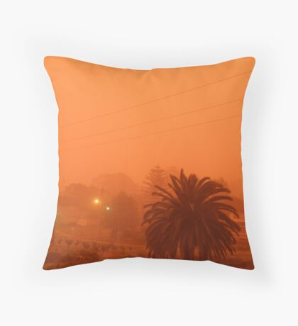 Dust Storm hits Sydney, Australia. Throw Pillow