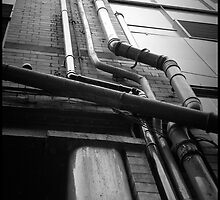 Drainpipes. The Northern Quarter, Manchester. by Quilm