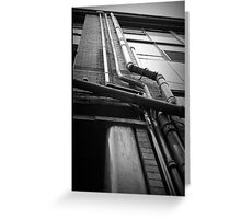 Drainpipes. The Northern Quarter, Manchester. Greeting Card