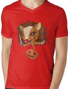 Pumpkin Hunter Mens V-Neck T-Shirt