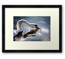 Reflection of rays Framed Print