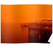 Manly Wharf, Sydney, Australia Severe sandstorm Poster
