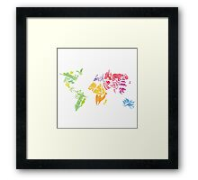 Watercolor map Framed Print
