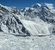 Ngozumba Glacier from Gokyo Ri summit by Cedar Wolf
