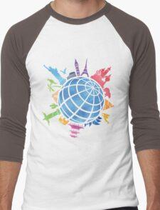 Landmarks around the World Men's Baseball ¾ T-Shirt