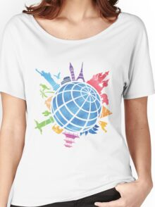 Landmarks around the World Women's Relaxed Fit T-Shirt