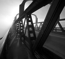 Into the void II - Murray Bridge Railway Bridge, South Australia by Mark Richards