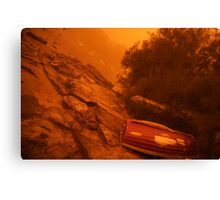 eerie red light in the bay Canvas Print