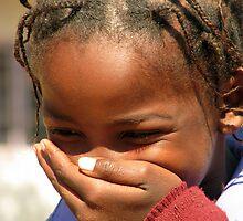 Namibian Girl Giggles by Cedar Wolf