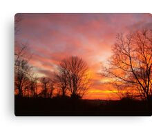 Red, Yellow and Orange Sky Canvas Print