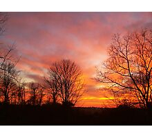 Red, Yellow and Orange Sky Photographic Print