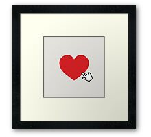 Online Love Framed Print