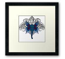 Peacock Elephant Framed Print