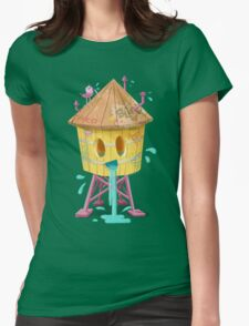 Happy Brooklyn Water Tower Womens Fitted T-Shirt